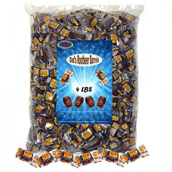 Dads Root Beer Barrels 4 Lbs Washburn Individually Wrapped Old ...