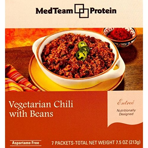 MedTeam Vegetarian Chili with Beans 7 packets of 1.093 oz, net ...