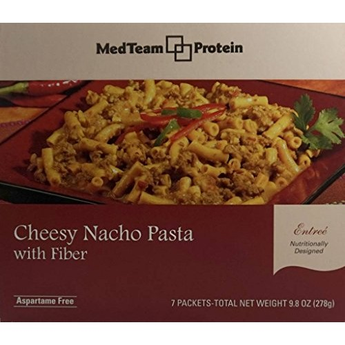 MedTeam Cheesy Nacho Pasta Entree with Fiber 7 packets of 1.411...