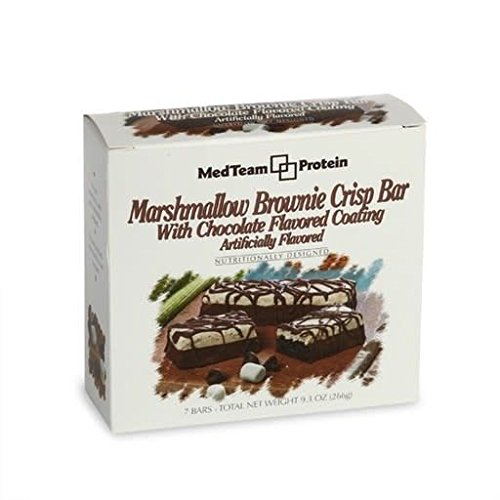MedTeam Marshmallow Brownie Crisp Bar with Chocolate Flavored Co...
