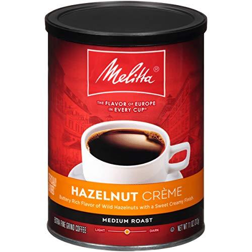 Melitta Hazelnut Crème Flavored Medium Roast Ground Coffee, 11 O...