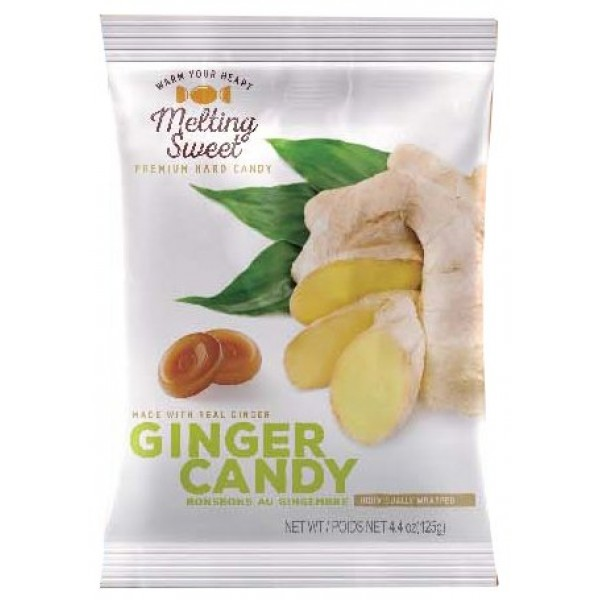 Melting Sweet Premium Individually Wrapped Ginger Hard Candy, 4....