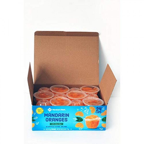 2 Pack Mandarin Oranges in Fruit Juice, 4 Ounce Cups 24 Count P...