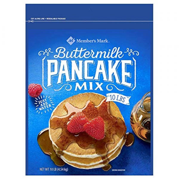 Buttermilk Pancake Mix, Members Mark 10 Pound Bag Waffles Pancakes