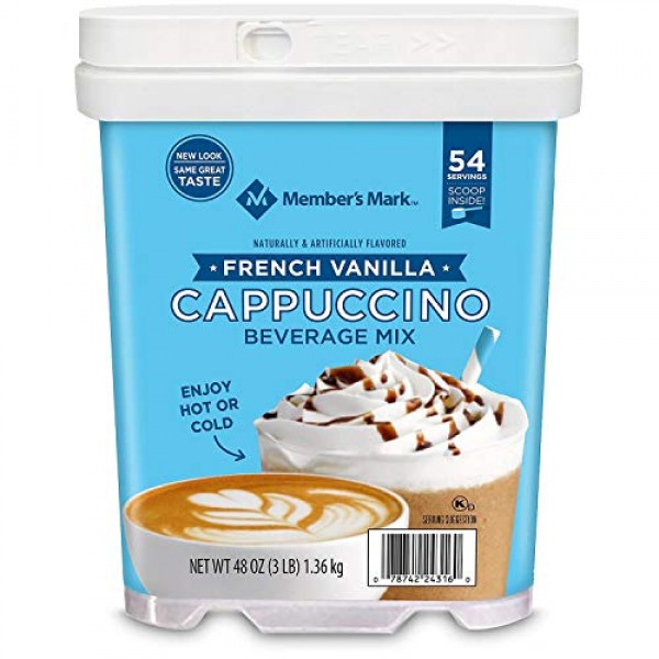 Daily Chef French Vanilla Cappuccino 48 oz.54 Servings Pack o...