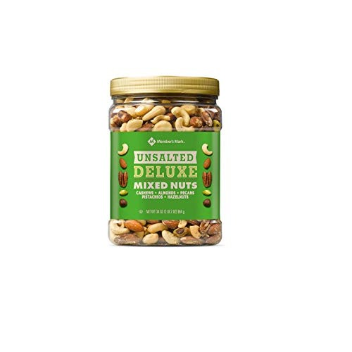 Members Mark Unsalted Deluxe Mixed Nuts 34 oz.