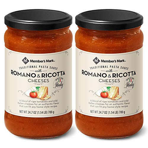 Members Mark Traditional Pasta Sauce with Romano and Ricotta Ch...