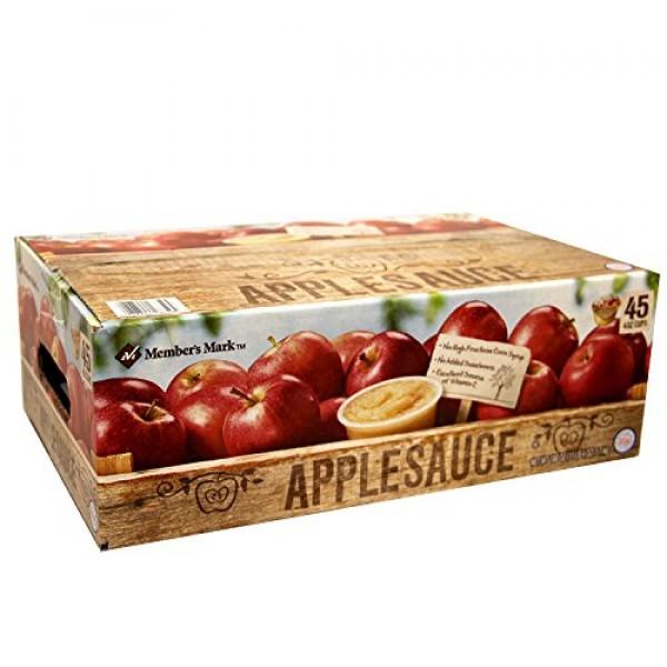 Members Mark Apple Sauce Cups, 180 Ounce