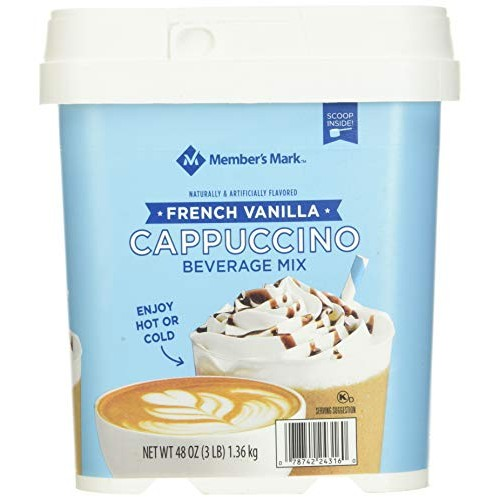 Members Mark Vanilla Cappuccino Mix, 3 Pound