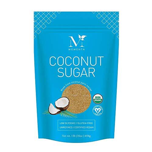 Mementa Organic Coconut Sugar, Unrefined, 16 oz