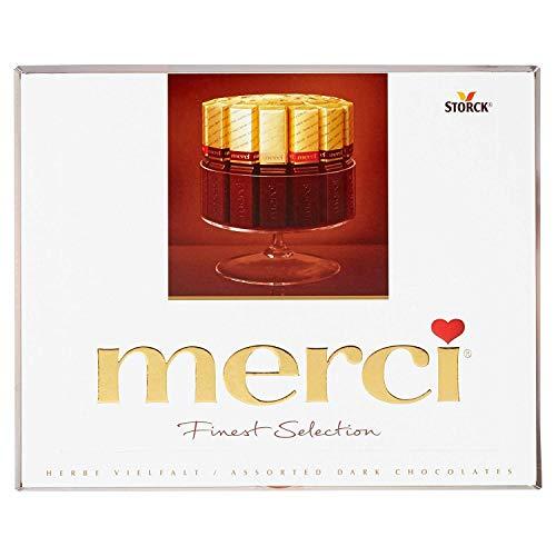 Merci Finest Assortment of European Dark Chocolates 8.8 Ounce, 2...