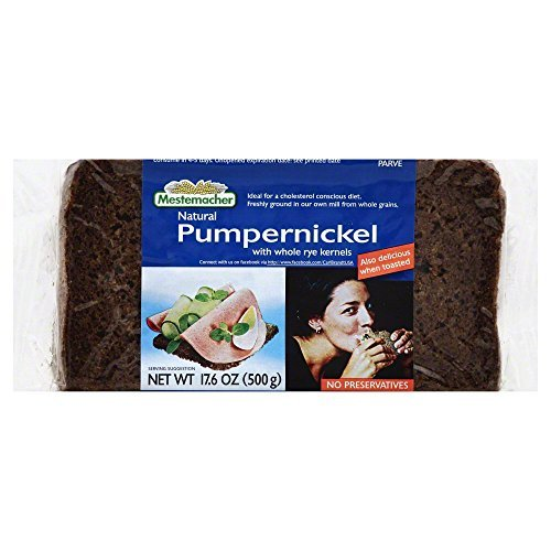 MESTEMACHER BREAD RTE PUMPERNICKEL, 17.6 OZ Pack of 6