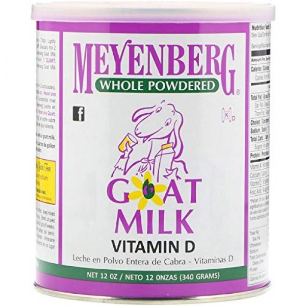 Meyenberg Goat Milk, Whole Powdered Goat Milk, Vitamin D, 12 oz ...