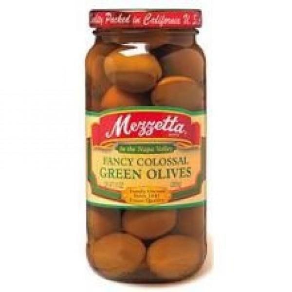 Mezzetta Fancy Colossal Green Olive, 10 Ounce - 6 per case.
