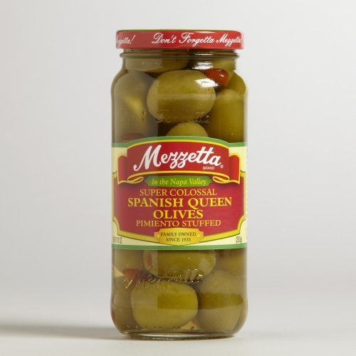 Mezzetta Super Colossal Spanish Queen Olives 10 oz. (Pack of 6) ...