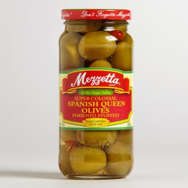 Mezzetta Super Colossal Spanish Queen Olives Pimienta Stuffed, 1...
