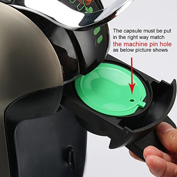 9 Cups/Pack Refillable Dolce Gusto Coffee Capsules Refilling Pod...