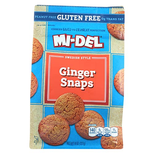 Midel Ginger Snaps, Gluten Free - Case of 8 - 8 oz