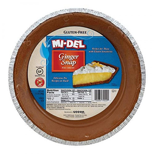 Mi-Del Ginger Snap Gluten-Free Pie Crust, 7.1 Ounce Pack of 12
