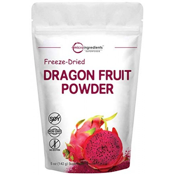 Pure Freezed Dried Dragon Fruit Powder, 5 Ounce, Contains Immune...