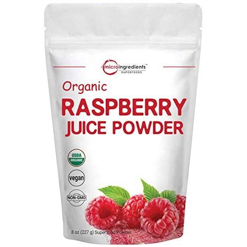 Sustainably US Grown, Organic Freeze Dried Raspberry Juice Powde...