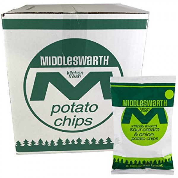 Middleswarth Kitchen Fresh Potato Chips Sour Cream & Onion Flavo...