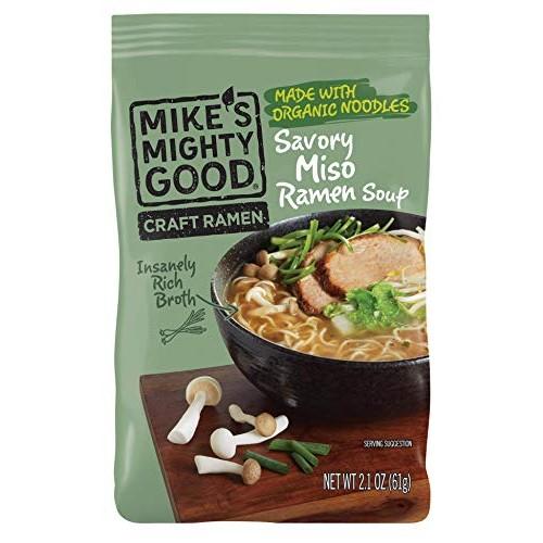 Mikes Mighty Good Craft Ramen Savory Miso Soup, 2.1 Ounce Pillo...