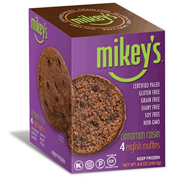 Paleo Bread, English Muffins, Cinnamon Raisin, 4 Per Box 2 Pack