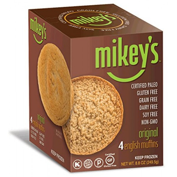 Paleo Bread, English Muffins, Original Flavor, 4 Per Box 2 Pack