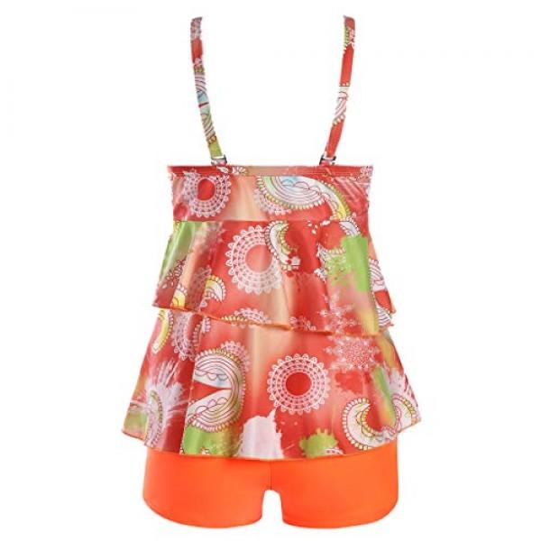 Women Tankini Sets with Boy Shorts Ladies Bikini Set Swimwear Pu...