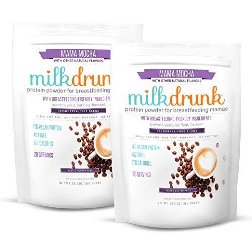 2 Bags Milk Drunk Fenugreek-Free - Mocha Dairy Free Protein Powd...