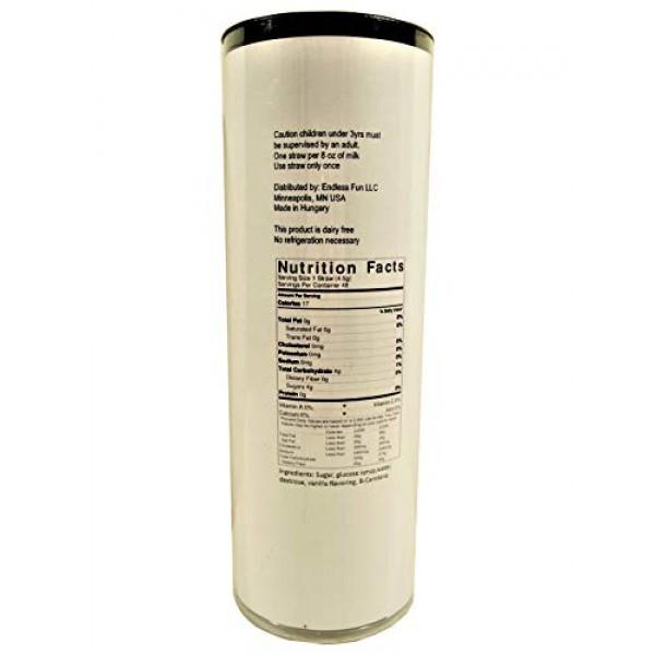 Milk Magic Magic Milk Straws 48 Count Tube of Magic Straws Stra...