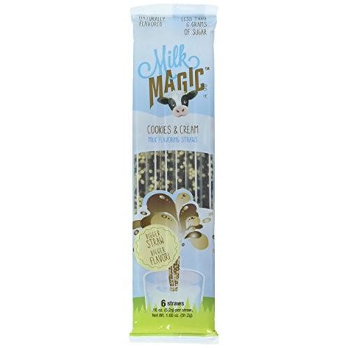 Milk Magic Milk Flavoring Straws Cookies and Cream 3 Packs 6 St...