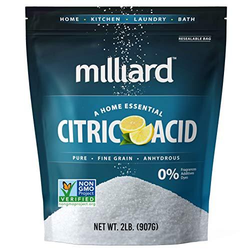 Milliard Citric Acid 2 Pound - 100% Pure Food Grade NON-GMO Proj...