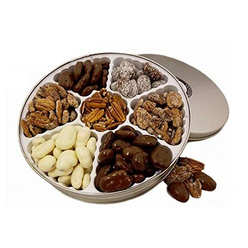 Pecan Gift Tin - 2 lbs | Seventh Heaven | 7 of our top flavored ...