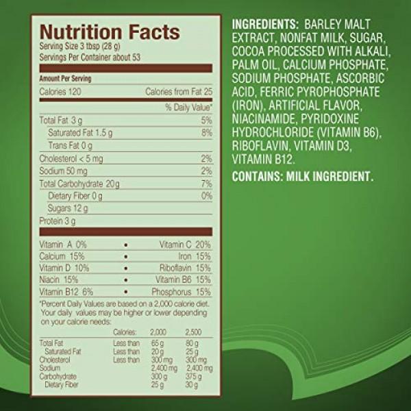 NESTLÉ MILO Chocolate Malt Beverage Mix, 3.3 Pound Can 1.5kg |...
