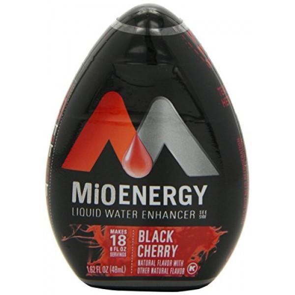 2 Pack MIO ENERGY Black Cherry, 1.62 fluid ounce each