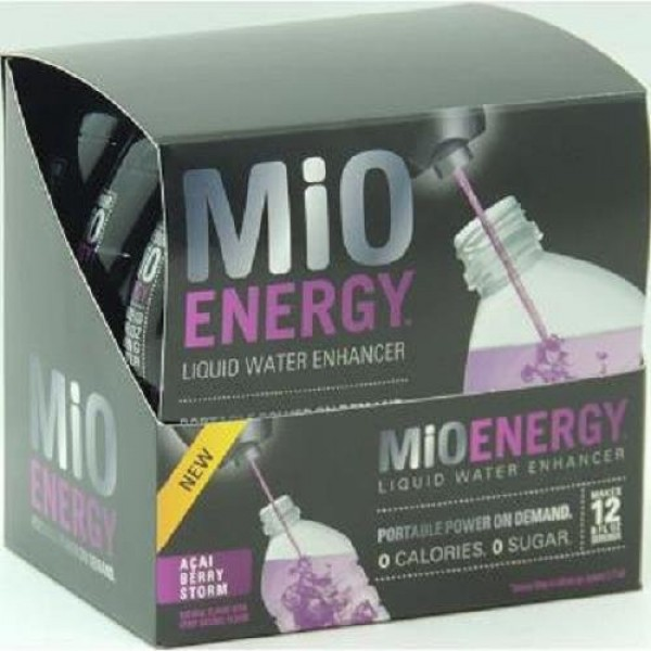 MiO ENERGY LIQUID WATER ENHANCER - ACAI BERRY STORM 1.08 oz Each...
