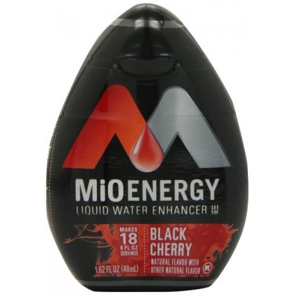 MiO Energy Liquid Water Enhancer, Black Cherry, 1.62 Ounce Pack...