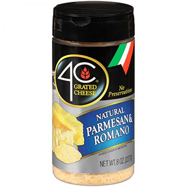 4C Parmesan/Romano Grated Cheese 8 oz. Pack of 3