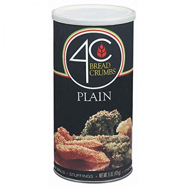 4C Plain Bread Crumbs 15 oz. Pack of 3