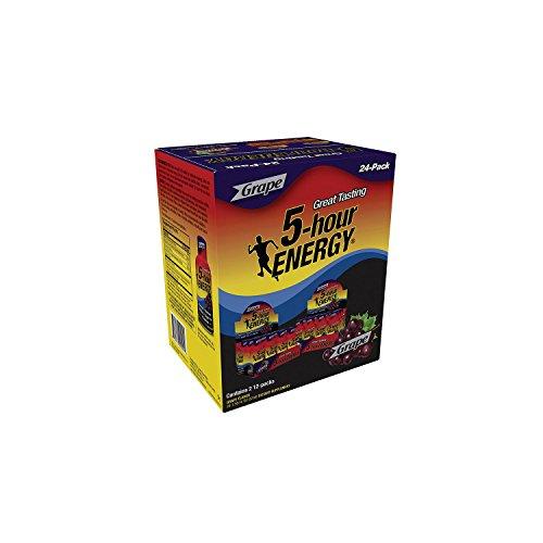 5-Hour Energy Shot, Grape 1.93 oz. ea., 24 pk.- Pack of 2 - O...