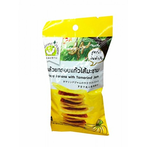 6 Packs of Crispy Banana with Tamarind Jam, Delicious Snack From...