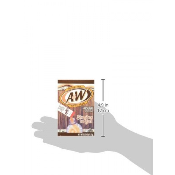 A&W Root Beer Drink Mix Singles to Go! Drink Mix 6 Count Pack o...