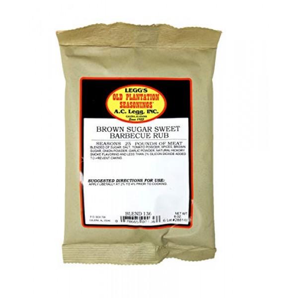 A.C. Legg - Brown Sugar Sweet Barbecue Rub - 8 Ounce