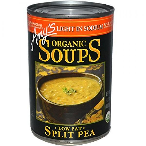 Amys, Organic Soups, Split Pea, Low Fat, Light in Sodium, 14.1 ...