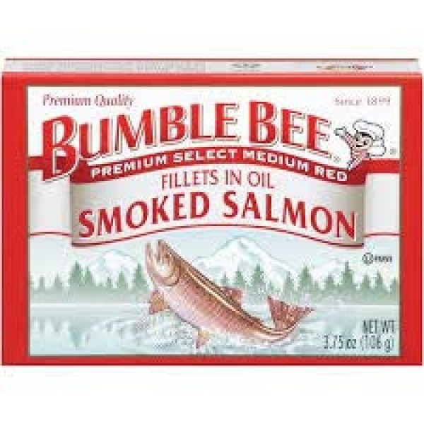 Bumble Bee Smoked Salmon Fillets in Oil 3.75oz can Pack of 12