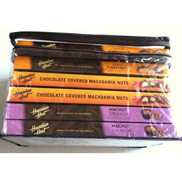 Chocolate Covered Macadamia Variety 6 Pack Maui Caramacs, MacNu...