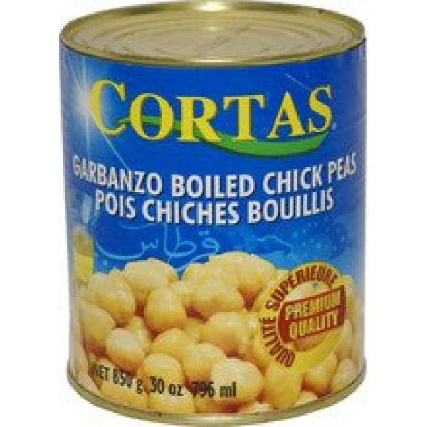 Cortas Boiled Chick Peas - 30oz pack of 6