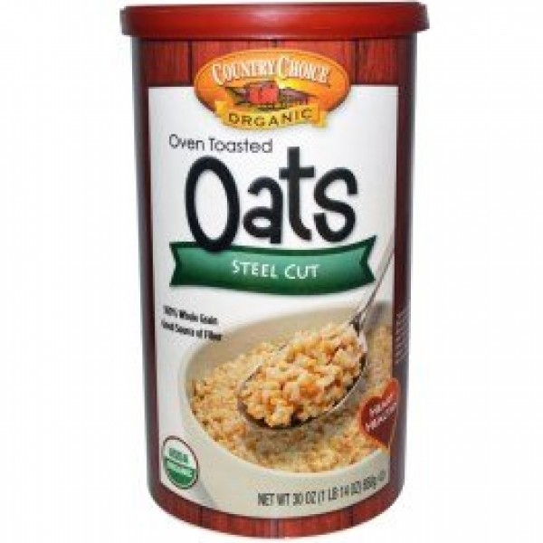 Country Choice Organic, Oven Toasted Oats, Steel Cut, 30 oz 850...